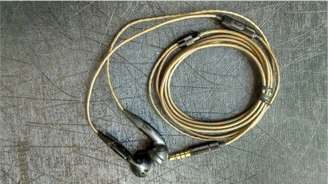 DIY Pk2 earphone original pk2 unit silver plated wire