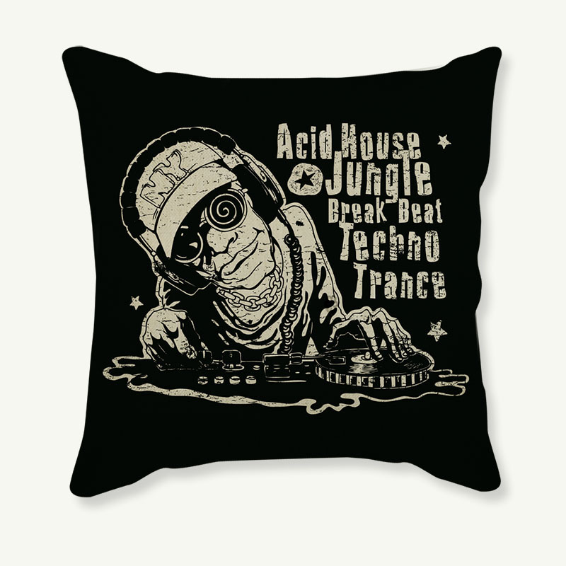 Fashion Skull emoji Pillow Case Cushion Cover Cotton Linen 18 Inches Printed Throw Pillows Decorative Cojines Housse De Coussin