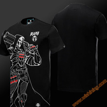 2017 Wishining OW Reaper T-shirts Mens Boys Short Sleeve Black Tshirts Watch Over OW Game Hero Tees Shirts