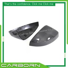 цена на For Audi A3/S3 8V 2014+ with Turn Light Signal Replacement Carbon Fiber Rear View Mirror Cover