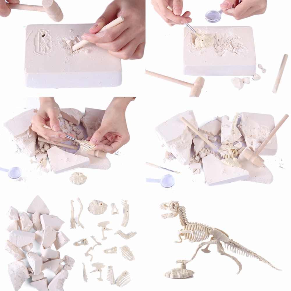 3D Glow In Dark Dinosaur Excavation Kit Science Digging DIY TOY For Boy  Action Figure Kids Educational STEM Toys Type Random