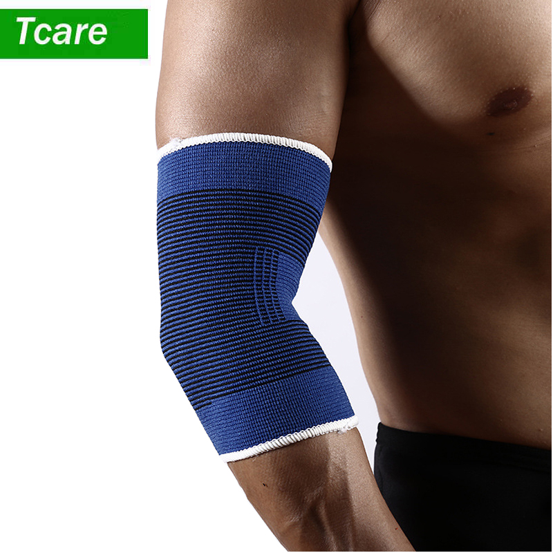 1Pair Fitness Elastic Elbow Brace Compression Support Sleeve For Tendonitis, Tennis Elbow, Golf Elbow Treatment Pain Relief