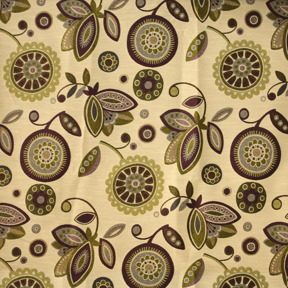 1 Yard Beige NIce Touch Feeling Fabric Curtain Bed Sheets Fabric Material  Polyester Rayon Sunflower Pattern