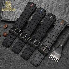 באיכות גבוהה סיליקון גומי צמיד 24*16mm רצועת השעון עבור טיימקס T2N720 T2N721 TW2T76300 להקת שעון ספורט סיליקון רצועה