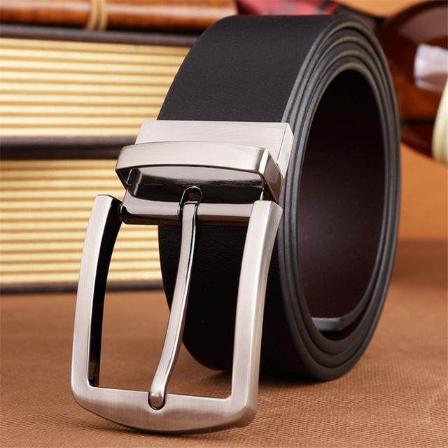 Belt 2017 new arrival men's belts pin buckles brand fashion Real leather for business high quality luxury for male freeshipping