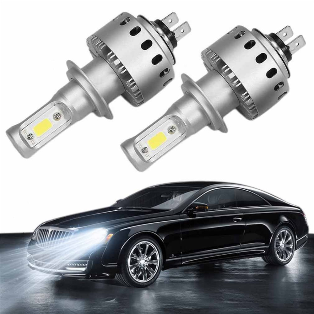 New H7 LED 12V Car Headlights Lamp Bulb 12000LM 2*80W Headlights High Power Car LED Light 6000K 12V Free Shipping