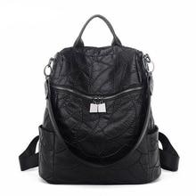 Высокое качество Для женщин рюкзак Пояса из натуральной кожи дорожная сумка подросток Обувь для девочек студент Школьные сумки Женская мода рюкзак