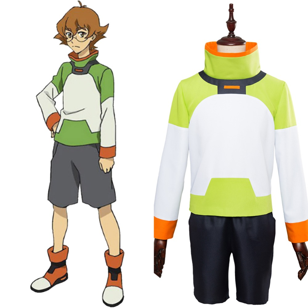 Anime Voltron Legendary Defender of the Universe Cosplay Costume Defender Pidge Voltron Cosplay Costume Full Set