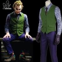 2014 Halloween Costumes Men Winter Jacket Batman The Dark Knight Joker Cosplay Suit Overcoat Tuxedo TUX