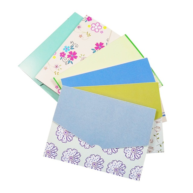 120 Pcs Lot Vintage Flower DIY Multifunction Mini Envelope Design Card Floral Folding Greeting Wholesale