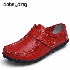 Image 3 - Cuir véritable femmes chaussures décontractées à lacets femme mocassins mocassins femmes chaussures plates solide talon bas dame chaussure doux chaussures pour femmes
