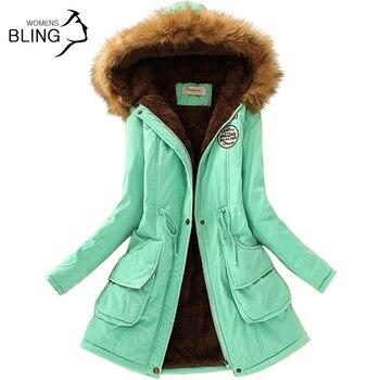 Parkas Women Coats Fashion Autumn Warm Winter Jackets Women Fur Collar Long Parka Plus Size Hoodies Casual Cotton Outwear Hot