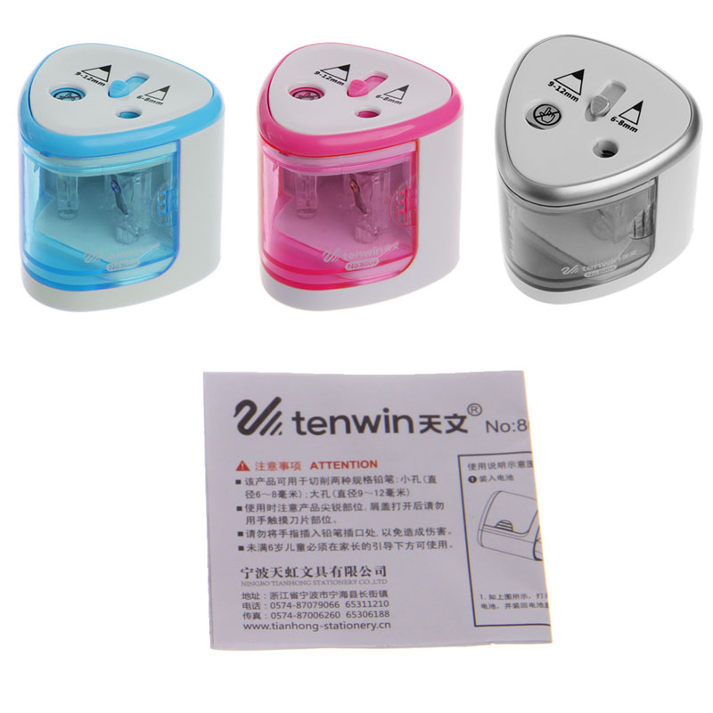 цены New Automatic Two-hole Electric Touch Switch Pencil Sharpener Home Office School W15