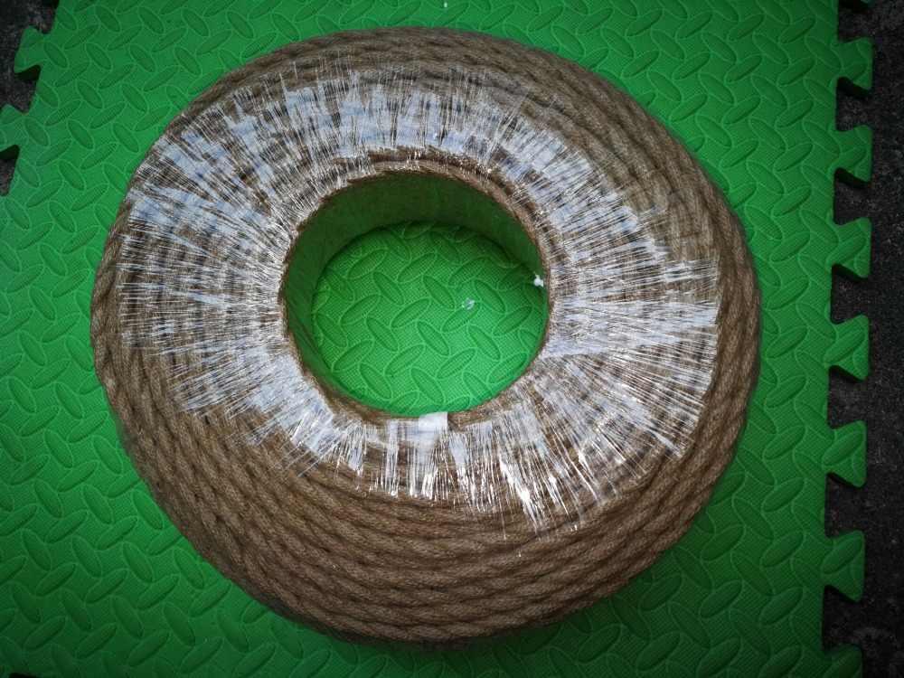 Bege 5/10/20 metros fio elétrico do vintage corda de cânhamo fio tecido fio de matéria têxtil trançado fio trançado retro luz pingente linha