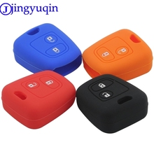 jingyuqin 2 Buttons Silicone Remote Key Cover For Citroen C1 C2 C3 Pluriel C4 C5 C8 Xsara Picasso For Peugeot 206 307 207 408