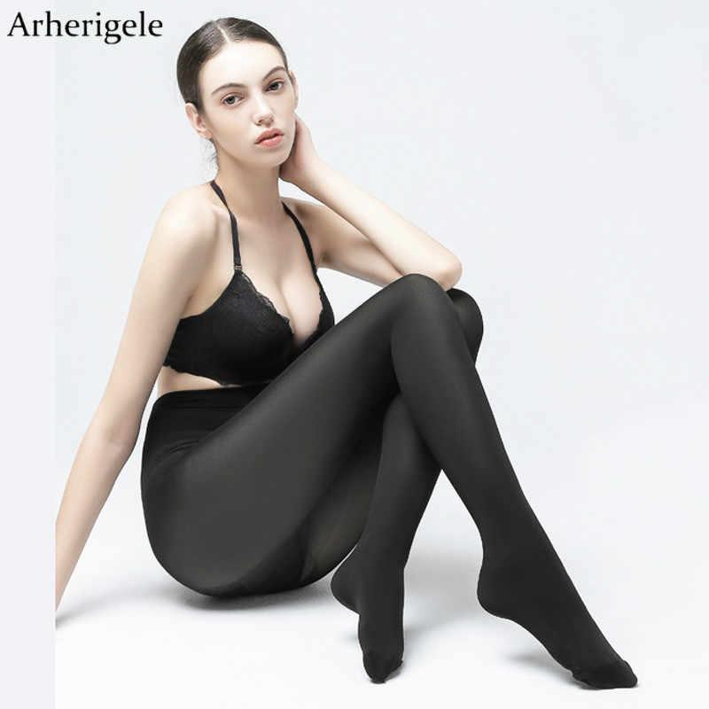 708633224d8c5 Arherigele 2pcs Women 200D Thick Cotton Tights Girl s Winter Warm Pantyhose  Black Nylon Super Elastic Pantyhose