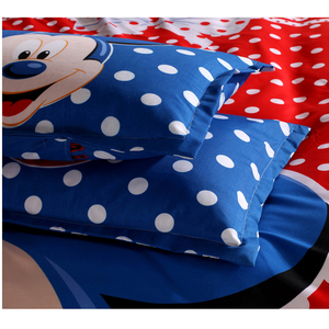 Image 5 - Disney Blue Mickey Mouse Duvet Cover Set 3 or 4 Pieces Double Single Size Bedding Set for Children Birthday Gift Bedroom Decor