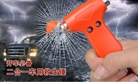 10PCS 2 in 1 Multifunction Hard Car Window Seat Safety Security AUTO Emergency Escape Life Saving Hammer Belt Cutter Tool