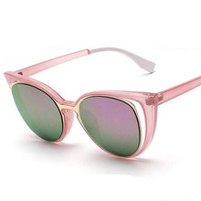 цены Fashion Cat Eye Sunglasses Women Brand Designer Retro Pierced Female Sun Glasses Oculos De Sol Feminino