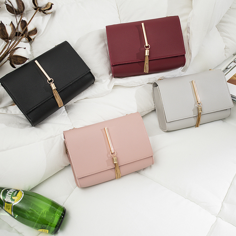 2019 New Brand Fashion Women Shoulder Chain Bag PU Leather Tasslel Small Handbags Female Mini Mobile Phone Bag For Ladies Girls