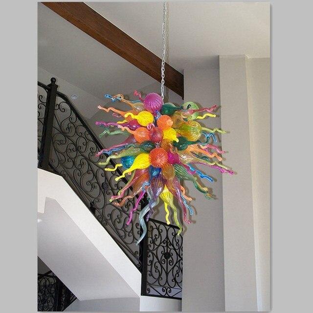 colorred soffiato lampadari in vetro led illuminazione lunga catena
