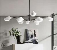 Скандинавский постмодерн минималистский гостиная спальня исследование Ресторан творческая личность люстра может вращение на 360 градусов