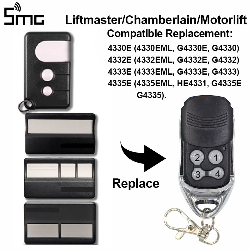 Liftmaster Chamberlain 4330e 4332e 4333e 4335e Compatible Handheld Transmitter For Sliding Gates Command Garage Rolling Code
