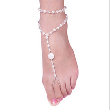 Imitation Pearl Multi-layer Fine Shiny One Foot Ring Anklet Chic Fashion Gift Women Beach Jewelry Hot