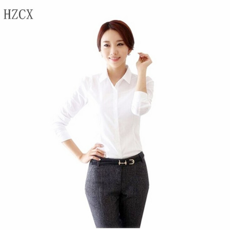 White Business Shirt Womens Artee Shirt
