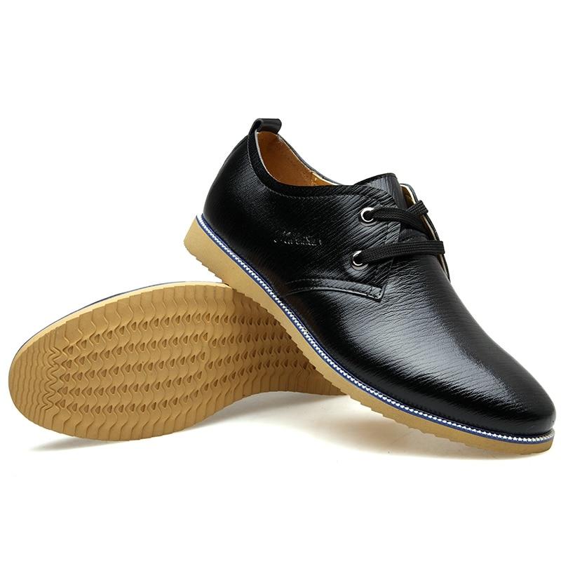 Black khaki Mode Décontracté D'affaires Habillées Britannique blue Homme Chaussures Cuir Oxford Mariage Mâle À Véritable De Lacets Muhuisen Style aHrWUqnavP