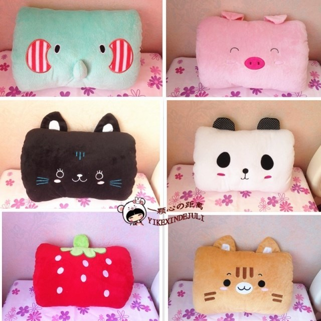 Multifunctional cartoon hand warmer pillow cushion hand po nap pillow