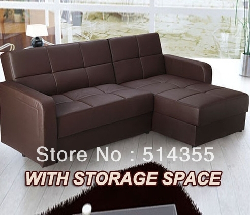 Faux Leather Corner Sofa Bed Sofabed Chaise With Storage E
