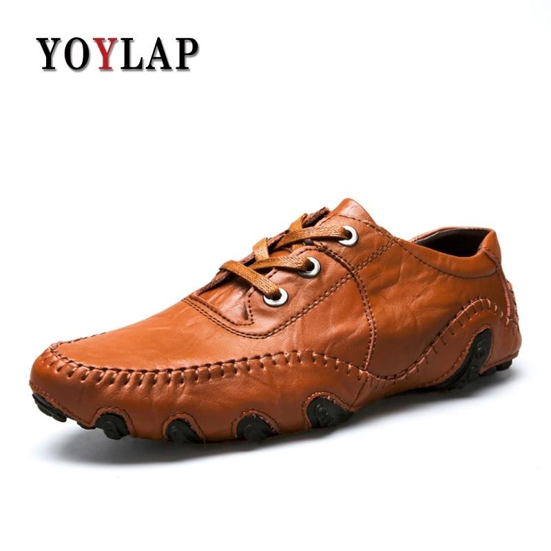 Cuir Véritable Grande Supérieure Britannique 46 Style 38 Taille Yoylap Noir on Hombre Slip Qualité Confortable Hommes Décontractées marron Zapatos En Chaussures cyZYY0qwF