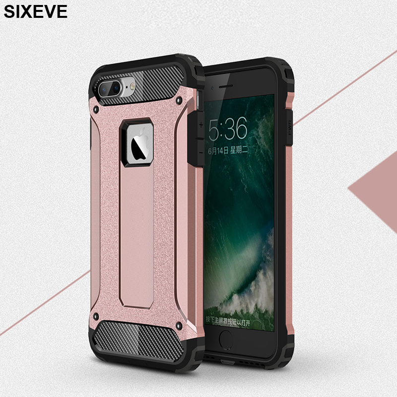 US $3 16 20% OFF|Drop proof TPU Case For iPhone 6 s 6S 7 7S iPhone 8 Plus X  10 5 5S 5SE XR XS Max 6Plus 6SPlus 7Plus 8Plus Jin Gang armor Cover-in