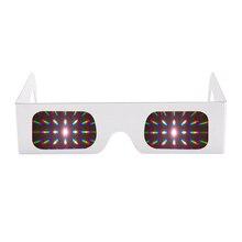 100 قطعة ورقة بيضاء ثلاثية الأبعاد Raves بريزم 13500 خطوط/دوامة ضوء حيود الألعاب النارية نظارات لعروض الليزر ، Raves والنوادي الموسيقية