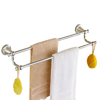 Polish Brass Towel Racks Antique Gold Towel Bars 2 Layers Gold Finished Wall Mounted Bathroom Accessories