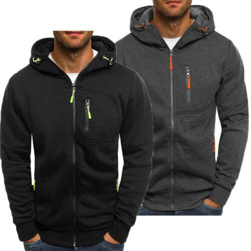 Men's Casual Hooded Hoodie Hoody Winter Warm Sweater Zip Jacket Coat Sweatshirt Outwear