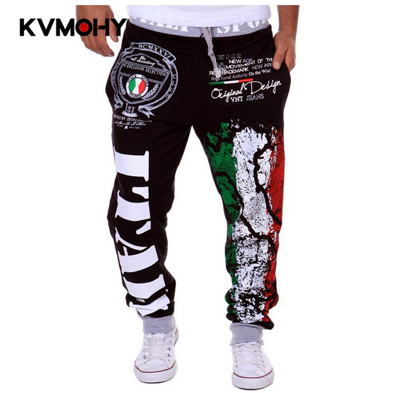 Pants Men Joggers Long-Trousers Streetwear Hip-Hop Fashion Male