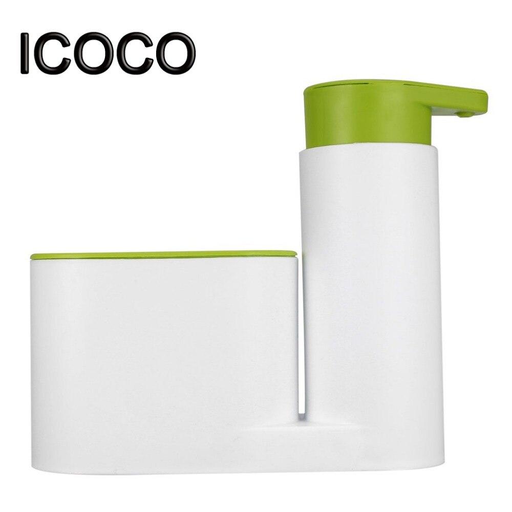 Icoco 3 в 1 Пластик шампунь Мыло диспенсер практические жидкий Мыло коробка шампунь-гель для душа контейнер держатель для Ванная комната Кухня