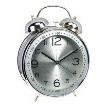 2600606004c Saat Meijswxj 8 polegada Despertador Reloj Relogio Reloj despertador Relógio  de Mesa Suporte de Metal Tocando