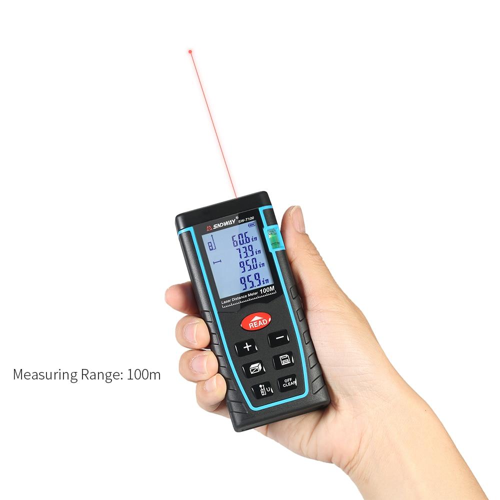 100 M Handheld Laser Afstandsmeter Mini Bouw Gereedschap Digitale Laser Afstand Meter Range Finder Afstand 30 Groep Data Opslag