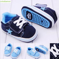 2 sizes 0 to 1 year Cotton Fabric Rubber Bottom Soft baby shoes first walkers Kids boys girls Toddler shoes  kid015