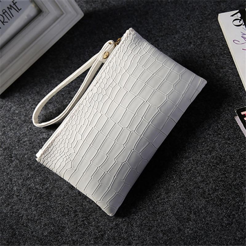 2018 New summer clutch PU tote women coin purse handbags ladies envelope mujeres Mobile phone bag crocodile grain female bags