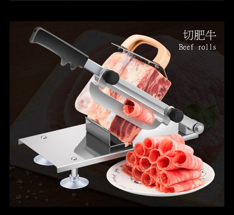 Ручная мясорубка говядины и баранины Slicer Главная сябу бараний жир говядины машину Rolls отрезок руки баранины Машина