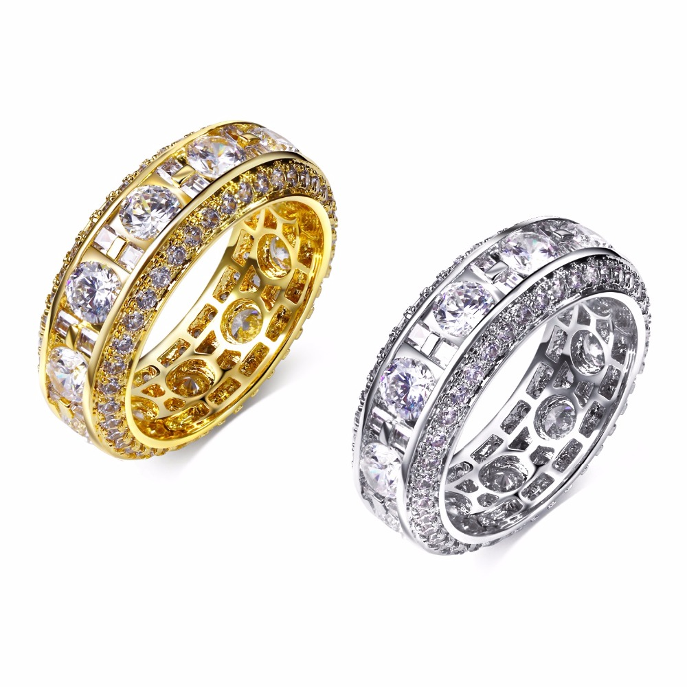 2017 New Luxury Wedding Ring For Women Gold Color Band Made With AAA Cubic Zirconia Lead Free Drop Shipping Cz Rings