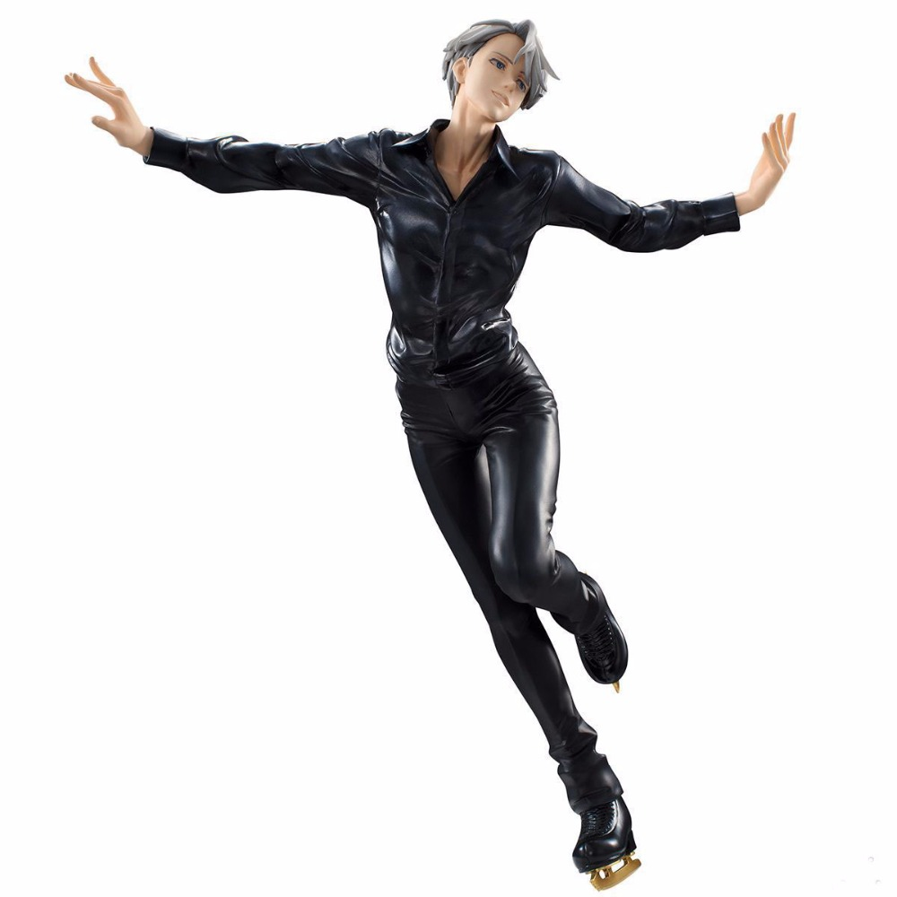 Free Shipping 8 YURI!!! on ICE Anime Victor Nikiforov Skating Ver. Boxed 21cm PVC Action Figure Collection Model Doll Toy Gift free shipping 6 comics dc superhero shfiguarts batman injustice ver boxed 16cm pvc action figure collection model doll toy