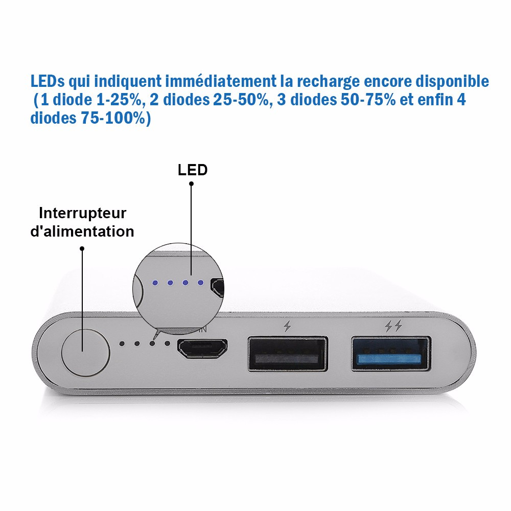 Buy Poweradd Pilot 2gs 10000mah Portable Power Bank 12v Pocketsized Rechargeable Battery With Protection Circuit 2800ma 1x External Mobile Usb Charger For Cell Phones