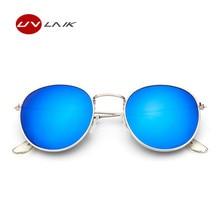 2017 Fashion  Trend Circular Frame Sunglasses Women Coating Reflective Mirror Glasses Female UV400 Vintage Brand Design Eyewear