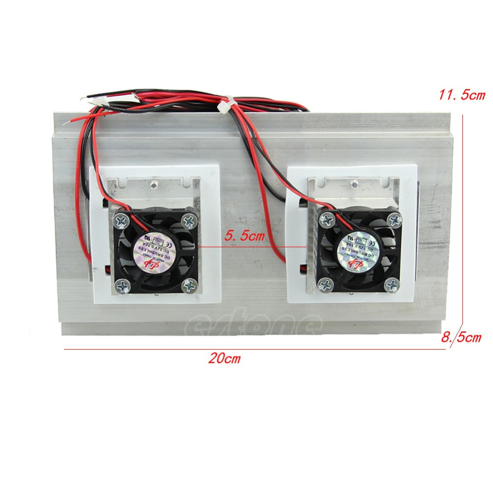 ANENG 1PC Thermoelectric Peltier Refrigeration Cooling System Kit Cooler Double Fan New