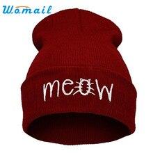 hot skullies beanies winter hat pom pom cap for women girl vintage solid hemming warm spring autumn hat   -30